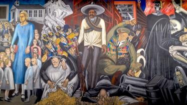 """Jose Clemente Orozco's """"The Epic of American Civilization,"""""""