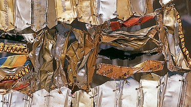 Detail of Hovor by El Anatsui